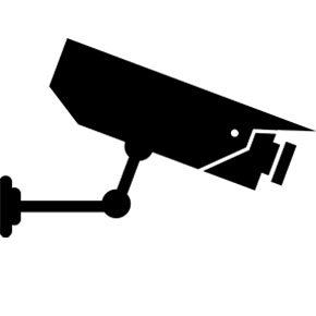 Security camera side-view vector