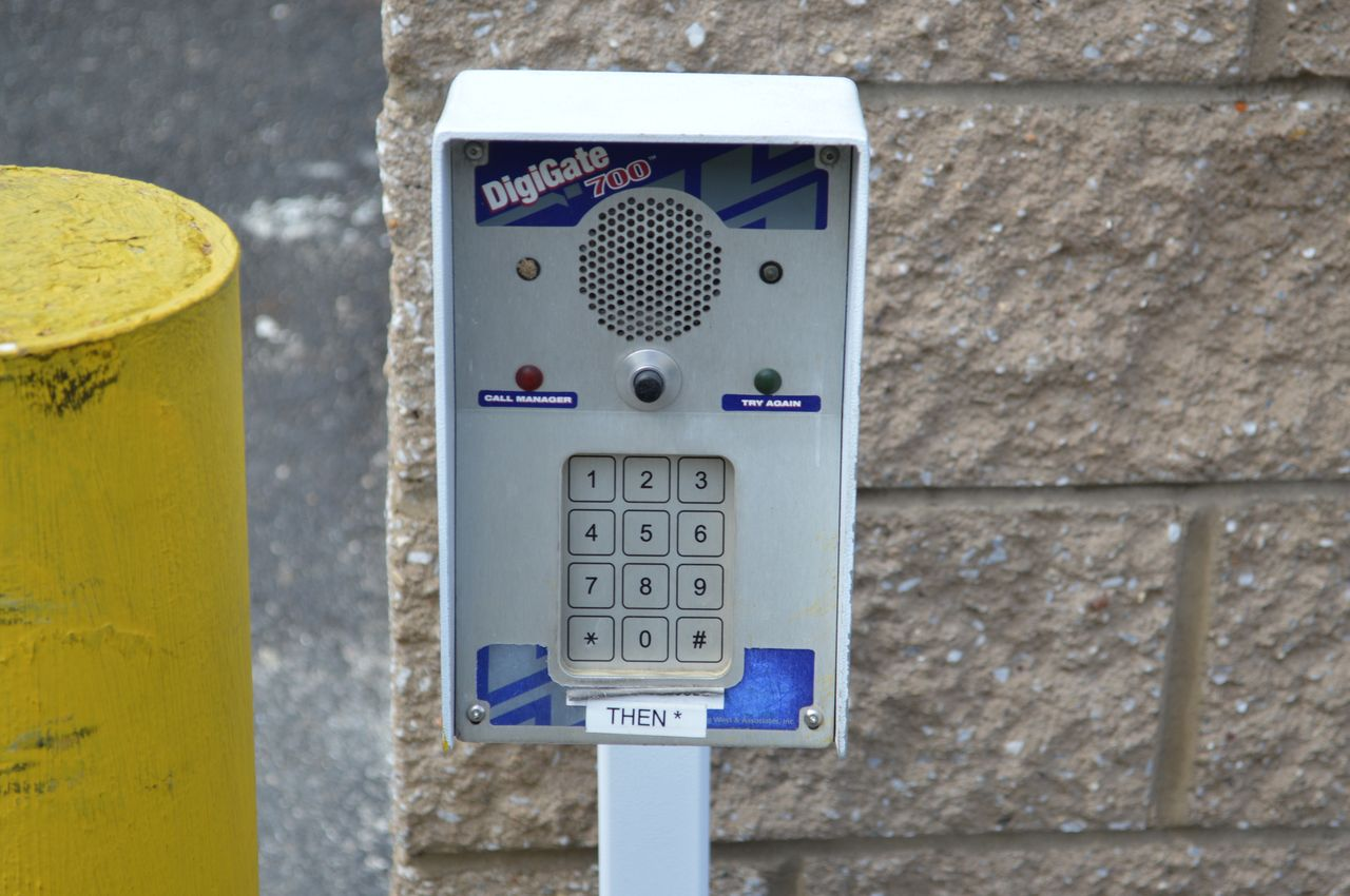 A Space Place's entry gate keypad
