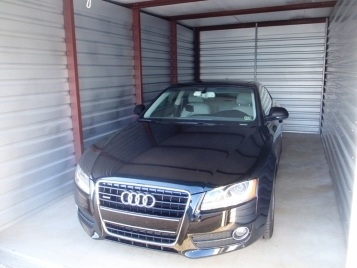 Audi sedan in storage unit