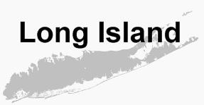 Silhouette of Long Island satellite image
